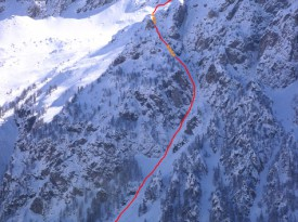 The Couloir Polichinelle / Ramp des Fréux